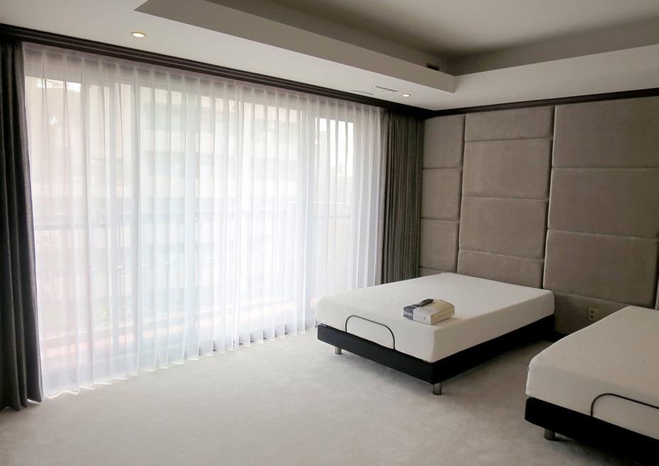 寝室オーダーカーテン製作施工例
